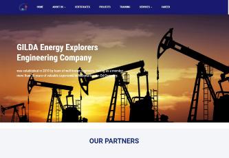طراحی و برنامه نویسی وب سایت دو زبانه شرکت گیلدا