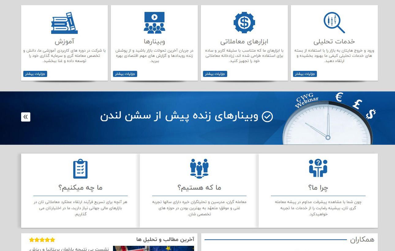 پشتیبانی هاستینگ وب سایت مجموعه تحلیل های مالی سیکلیکال